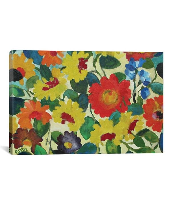 "iCanvas ""Zinnia Meadow"" By Kim Parker Gallery-Wrapped Canvas Print - 18"" x 26"" x 0.75"""