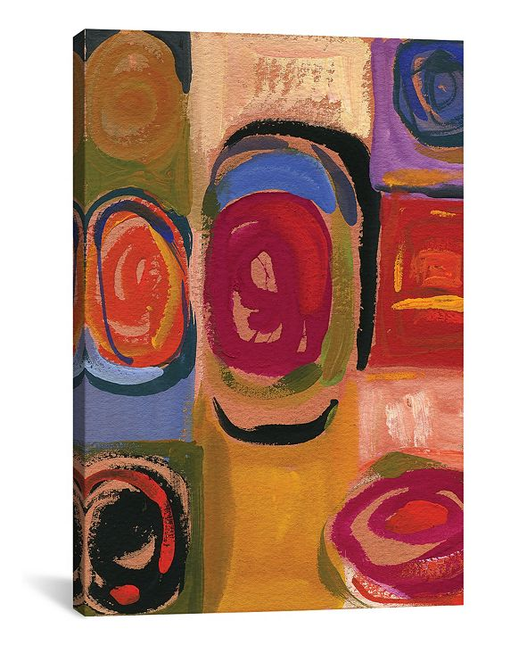 """iCanvas """"08 Circles"""" By Kim Parker Gallery-Wrapped Canvas Print - 18"""" x 12"""" x 0.75"""""""