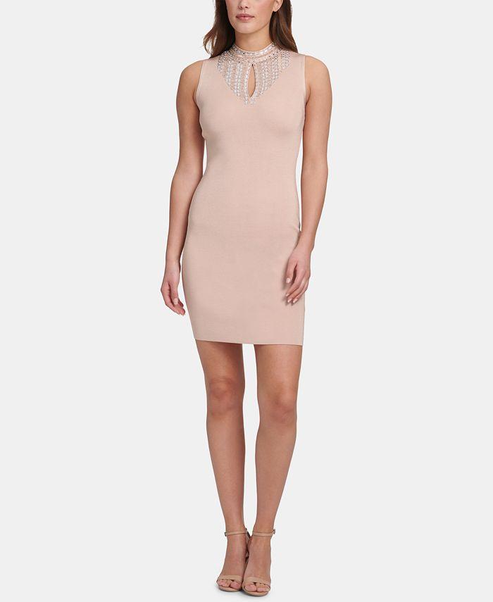 Marciano - Sleeveless Embellished Bodycon Dress