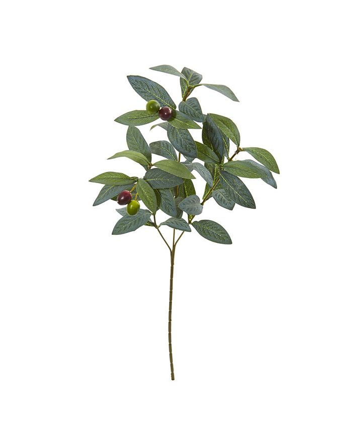 """Nearly Natural - 23"""" Olive Spray Artificial Plant (Set of 24)"""