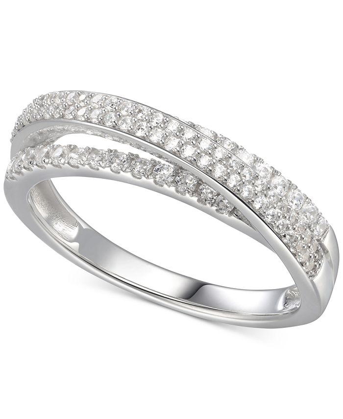 Macy's - Cubic Zirconia Split-Band Ring in Sterling Silver
