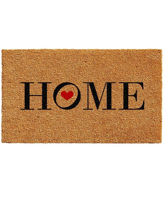 """Home & More - Heart Home 17"""" x 29"""" Coir/Vinyl Doormat"""