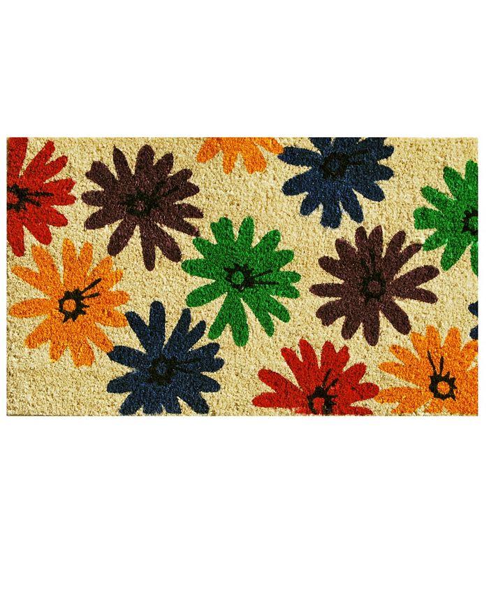 "Home & More - Colorful Daisies 17"" x 29"" Coir/Vinyl Doormat"