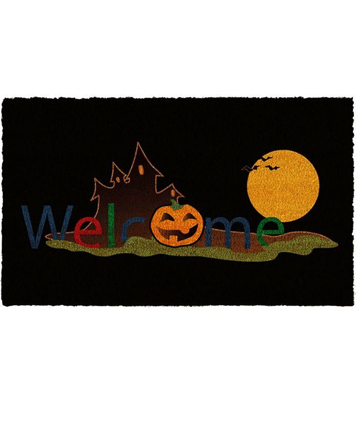 """Home & More - Halloween Welcome 17"""" x 29"""" Coir/Vinyl Doormat"""