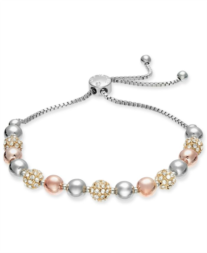 Charter Club Pavé & Imitation Pearl Slider Bracelet, Created for Macy's  & Reviews - Bracelets - Jewelry & Watches - Macy's