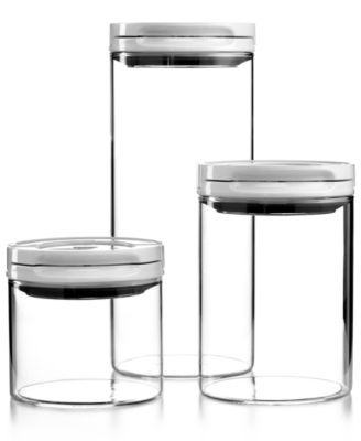 OXO Food Storage Containers, Set of 3 Flip Top Glass