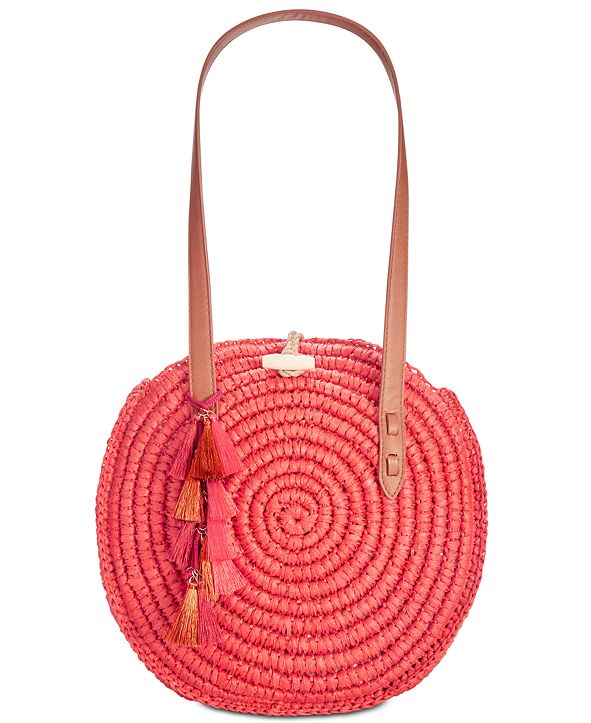 INC International Concepts INC Straw Circle Tote, Created for Macy's