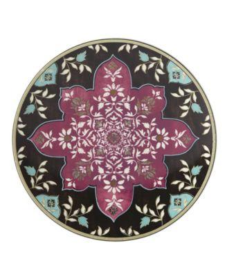 Global Tapestry Garnet  Mandala Accent/Salad Plate