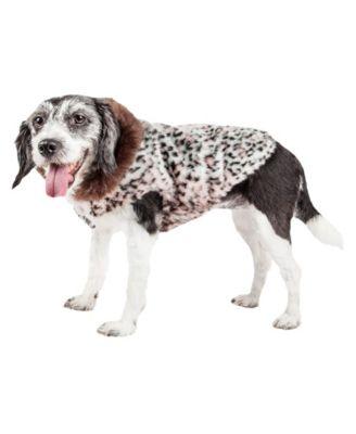 Luxe 'Furracious' Cheetah Patterned Faux Fur Dog Coat Jacket