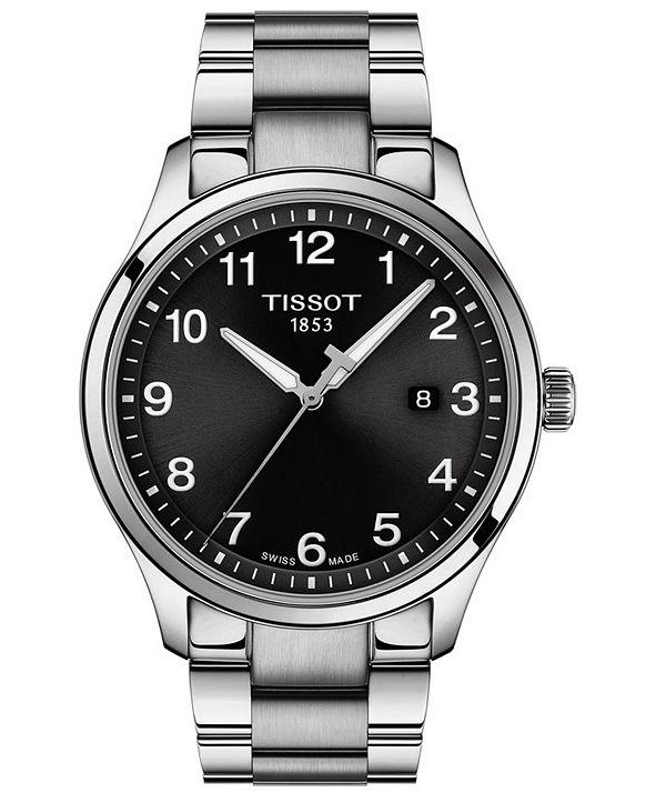Tissot Men's Swiss Gent XL Stainless Steel Bracelet Watch 42mm