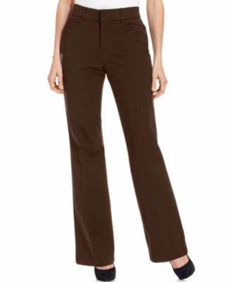 Image of JM Collection Twill Straight-Leg Pants