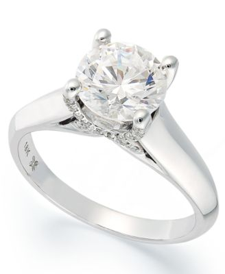 Certified Diamond Engagement Ring in 18k Gold or 18k White Gold (1/2 ct. t.w.), Created for Macy's