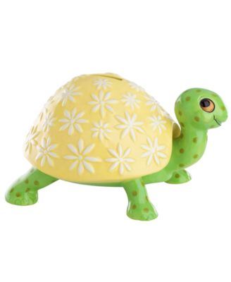 Turtle Decor yellow and green bank