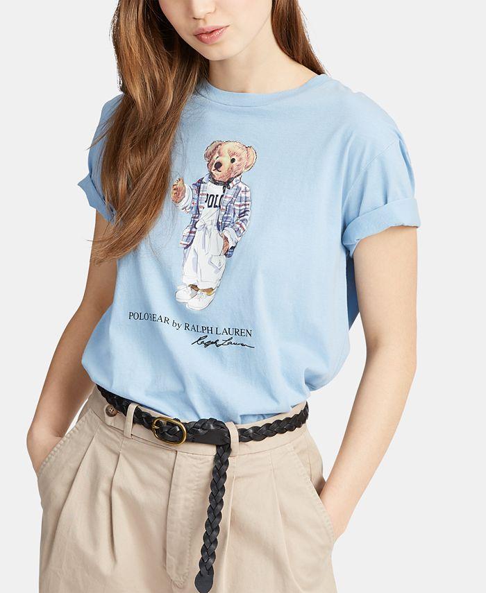 Polo Ralph Lauren Polo Bear Cotton T-Shirt & Reviews - Tops ...
