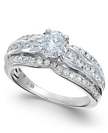 Diamond Open Setting Engagement Ring (1 ct. t.w.) in 14k White Gold