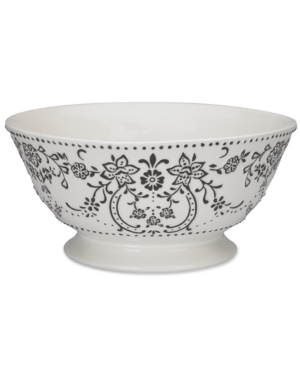 oleg cassini serveware, ava footed centerpiece bowl