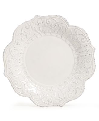 Maison Versailles Blanc Amelie Scalloped Dinner Plate
