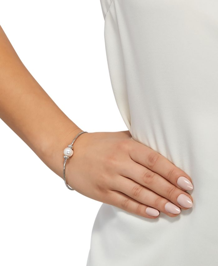 Honora Cultured Freshwater Pearl (8-9mm) Bangle Bracelet in Sterling Silver & Reviews - Bracelets - Jewelry & Watches - Macy's
