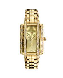 JBW Women's Mink Diamond (1/8 ct.t.w.) 18k Gold Plated Stainless Steel Watch