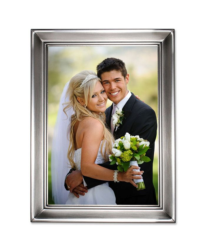 Lawrence Frames Brushed Pewter Metal Picture Frame 5 X 7 Reviews Picture Frames Home Decor Macy S
