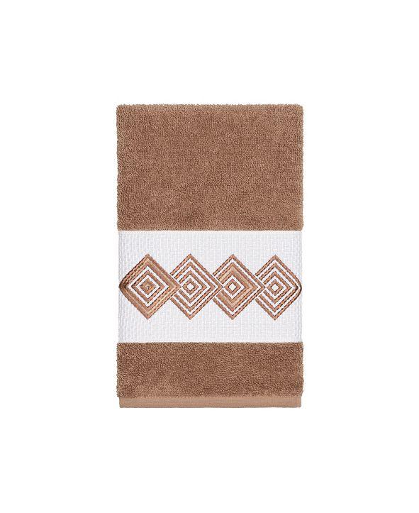 Linum Home Turkish Cotton Noah Embellished Hand Towel