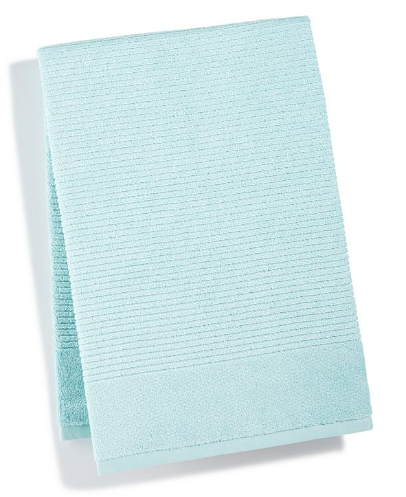 """Martha Stewart Collection 27"""" x 52"""" Quick Dry Reversible Bath Towel, Created for Macy's"""