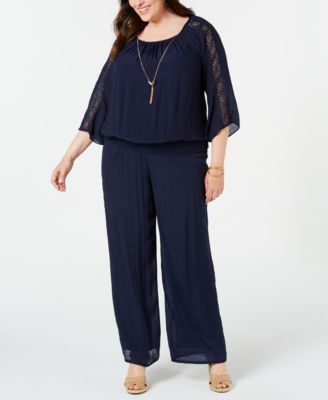 Plus Size Lined Gauze Pull-On Pants, Created for Macy's
