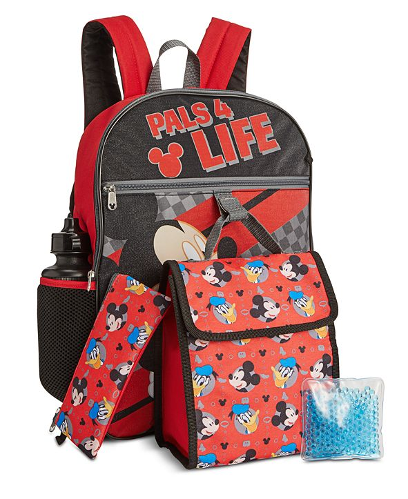 Bioworld Little & Big Boys 5-Pc. Mickey Mouse Backpack & Lunch Kit Set