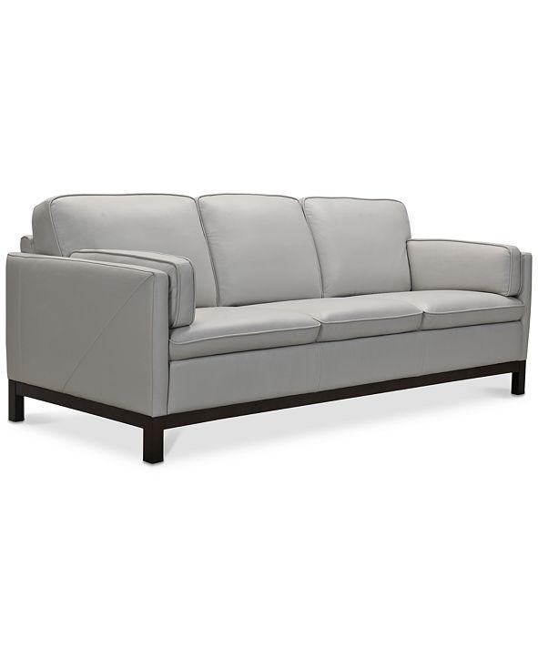 "Furniture Virton 87"" Leather Sofa, Created for Macy's"