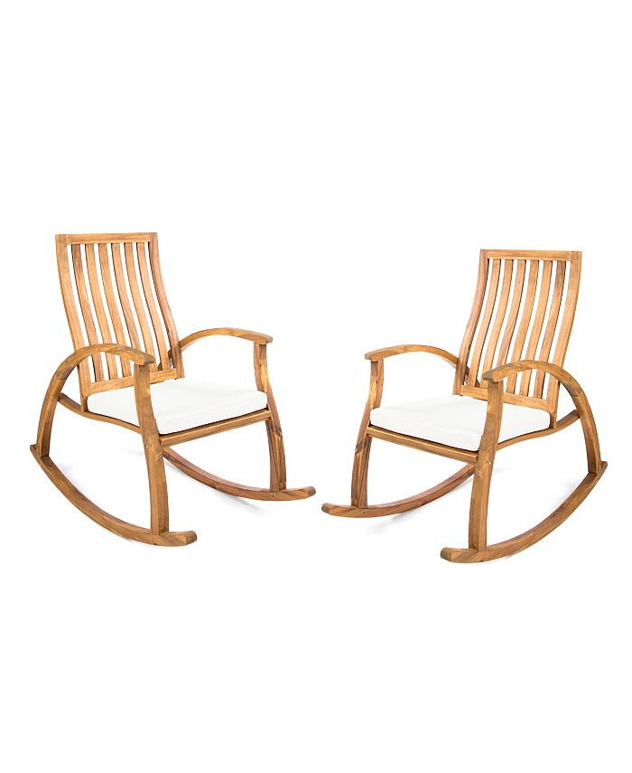 Noble House - Cayo Outdoor Rocking Chair, Quick Ship (Set of 2)