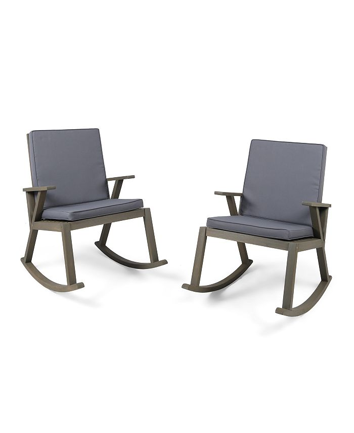Noble House - Champlain Outdoor Rocking Chair, Quick Ship (Set of 2)