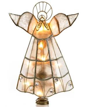 Kurt Adler Christmas Tree Topper, Capiz Angel