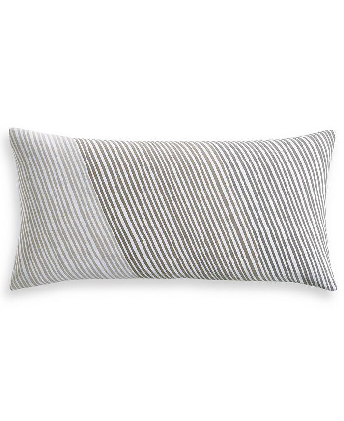 """Charter Club - Damask Designs Diagonal Stripe 12"""" x 24"""" Decorative Pillow"""