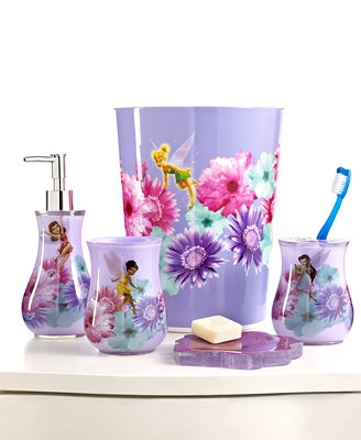 disney bath accessories fairies rosey collection