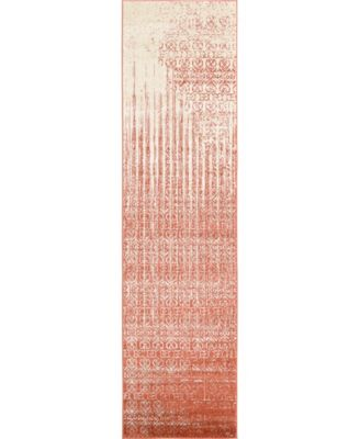 "Lyon Lyo2 Red 2' 7"" x 10' Runner Area Rug"