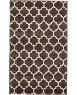 "Arbor Arb1 Brown 3' 3"" x 5' 3"" Area Rug"