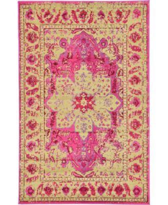 Sana San6 Pink 5' x 8' Area Rug