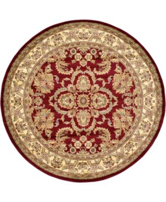 Passage Psg5 Red 8' x 8' Round Area Rug