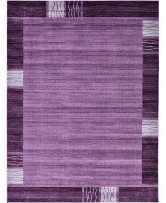 Lyon Lyo1 Purple 9' x 12' Area Rug