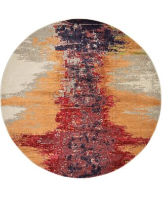 Newwolf New2 Pink 6' x 6' Round Area Rug