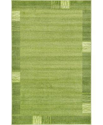 Lyon Lyo1 Green 5' x 8' Area Rug