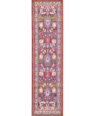 "Sana San1 Multi 2' 7"" x 10' Runner Area Rug"