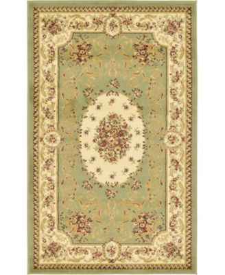 "Belvoir Blv4 Green 3' 3"" x 5' 3"" Area Rug"