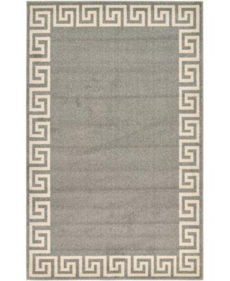 Anzu Anz2 Gray 5' x 8' Area Rug