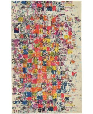 "Newwolf New3 Multi 3' 3"" x 5' 3"" Area Rug"