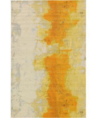 "Newwolf New4 Yellow 10' 6"" x 16' 5"" Area Rug"