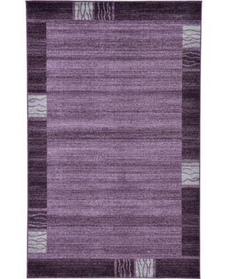 Lyon Lyo1 Purple 5' x 8' Area Rug