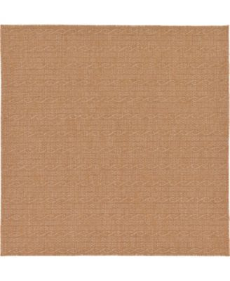 Pashio Pas6 Light Brown 6' x 6' Square Area Rug
