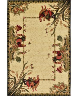 Roost Roo1 Ivory 6' x 9' Area Rug
