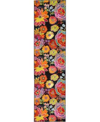 "Pari Par1 Black 2' 7"" x 10' Runner Area Rug"